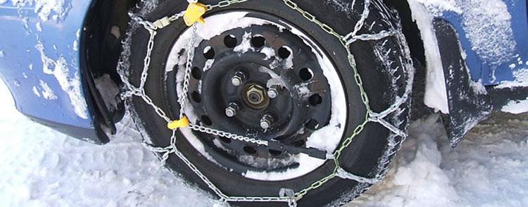 Cómo colocar las cadenas para nieve