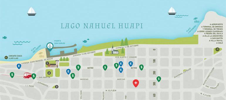 Mapa del centro de Bariloche
